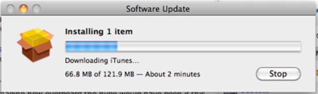 Instala Update Itunes