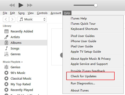 Itunes Check für Update W 10
