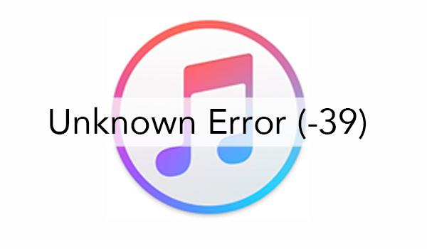 Itunes Error 39 1