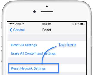 Restablecer configuración de red 1
