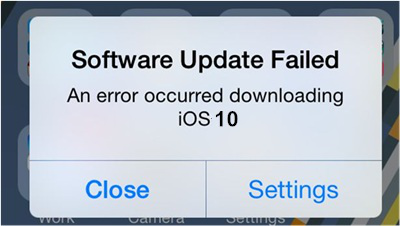 Software Update Falied 1