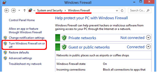 Seguridad del sistema Windows Firewall