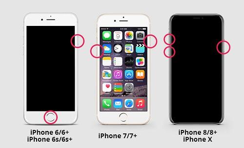 Reiniciando tu iPhone para arreglar el error