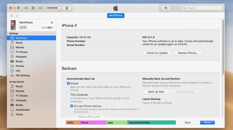 Restaurer les bibliothèques iTunes pour réparer iTunes ne fonctionne pas sous Windows 10