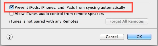 Launch iTunes and Prevent Automatically Syncing