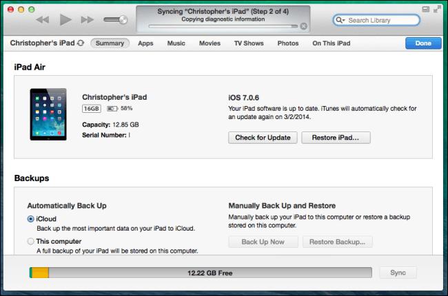 使用iTunes將數據從iPad傳輸到新iPad