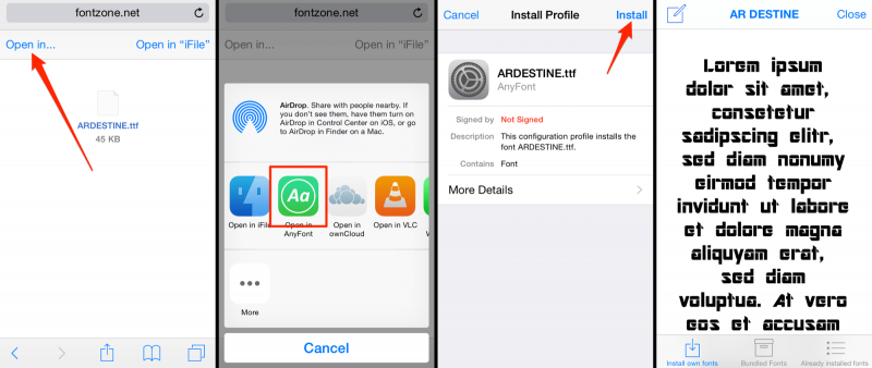 Two Solutions to Change The Font Style Of Your iOS Device