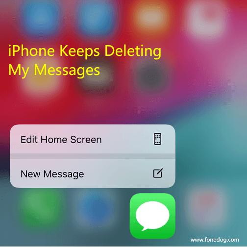為什麼iPhone不斷刪除我的消息
