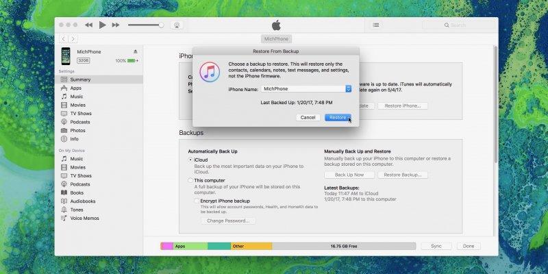 Reparar error iTunes no puede restaurar iPhone porque la contraseña era incorrecta