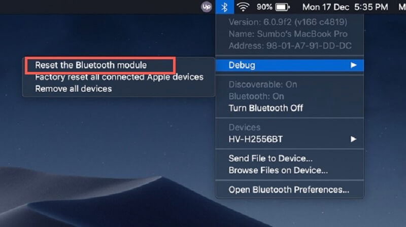 Reset The Bluetooth Module