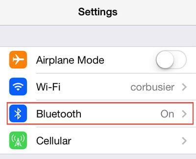 Disattiva Bluetooth su Iphone