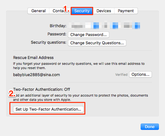 Enable and Disable Two Factor Authentication for Apple ID