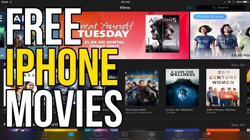 在Iphone上免费观看电影