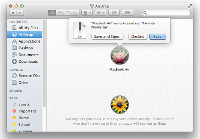 Airdrop On Mac Receive Files