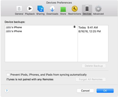 Comprobar Itunes Backup