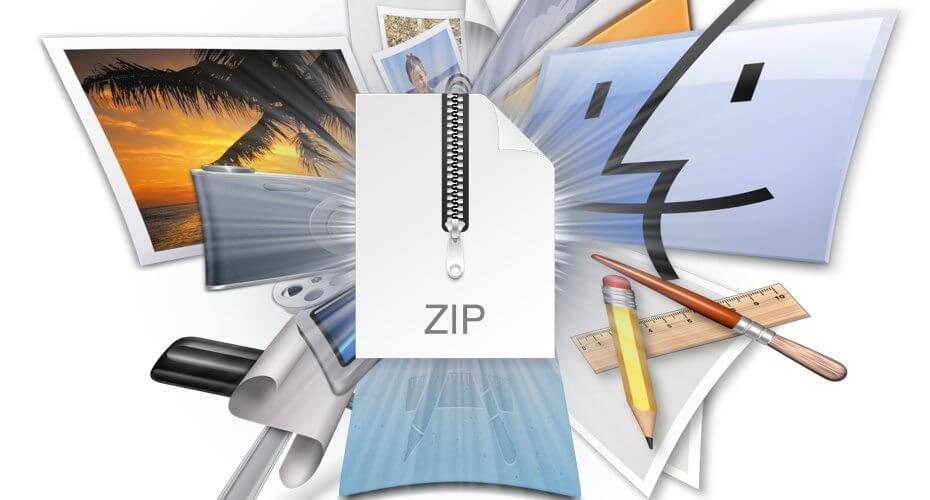 在Mac上创建一个Zip文件