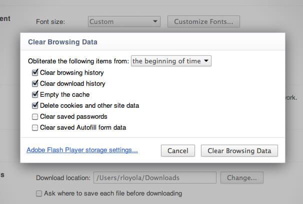 Comment effacer l'historique sur Chrome Clear