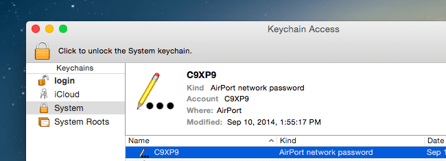 how to find wifi password on mac keychain