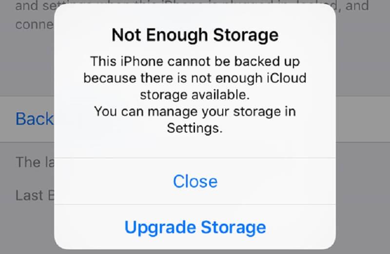 Problema de almacenamiento de Iphone
