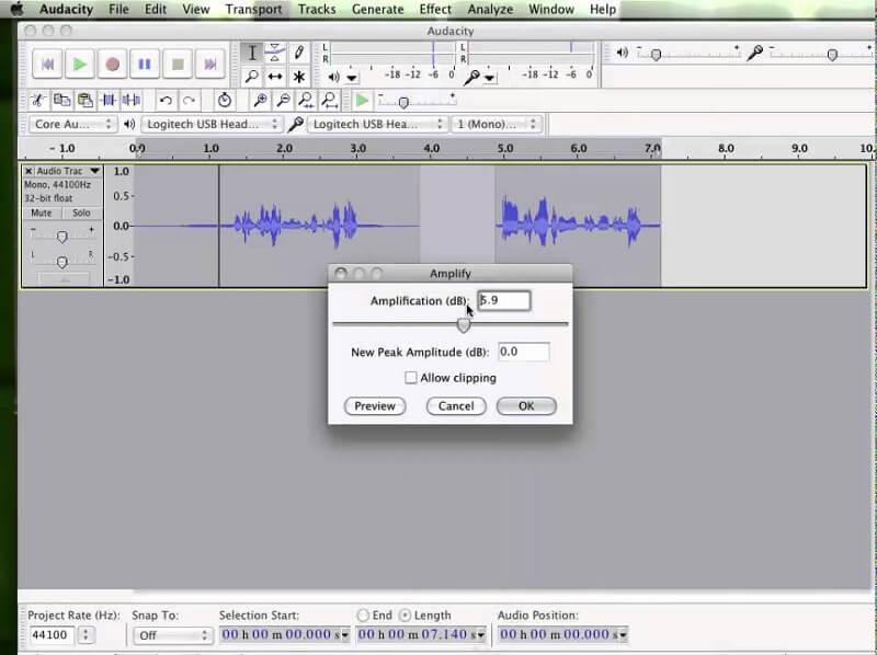 Enregistrer de l'audio sur Mac Audacity
