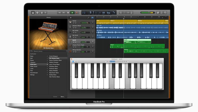 Enregistrer de l'audio sur Mac Garageband