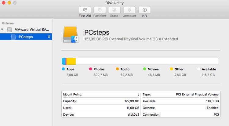 Mac redimensionner la partition sans effacer à l'aide de Disk Utility