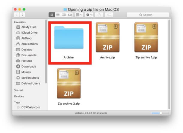 Solved - Unable to Expand ZIP on Mac