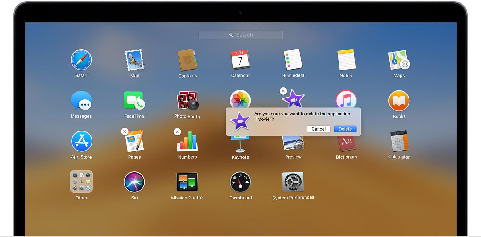 Désinstaller Apps sur Mac Launchpad