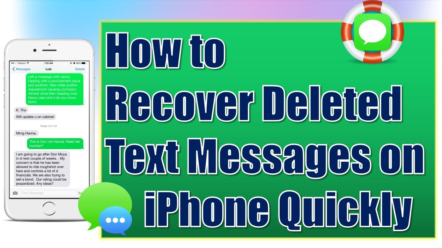 Solved! Retrieve iPhone Deleted Text Messages