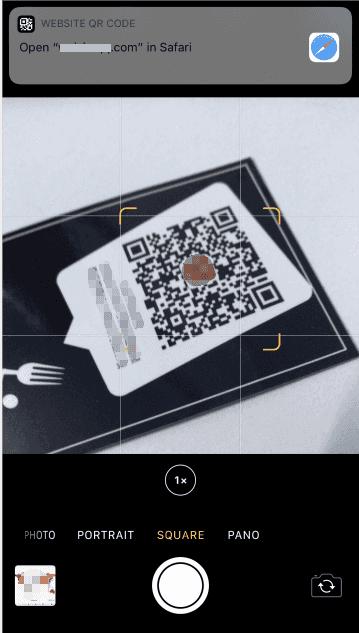 iPhone / iPad相机读取QR码