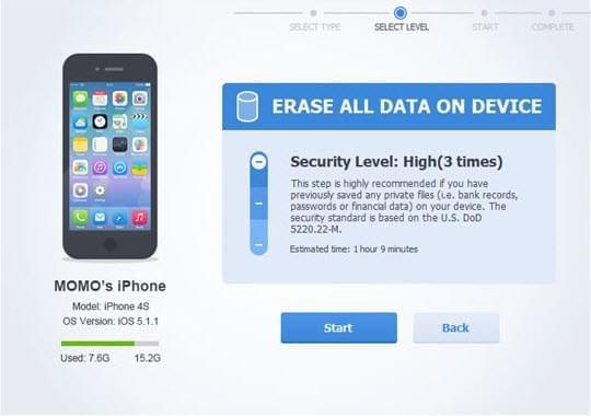 최고의 iPhone 데이터 지우개 소프트웨어 iPhone 데이터 클리너