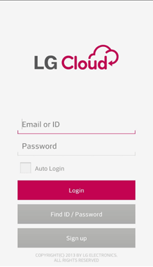 Transfer LG Files with LG Cloud