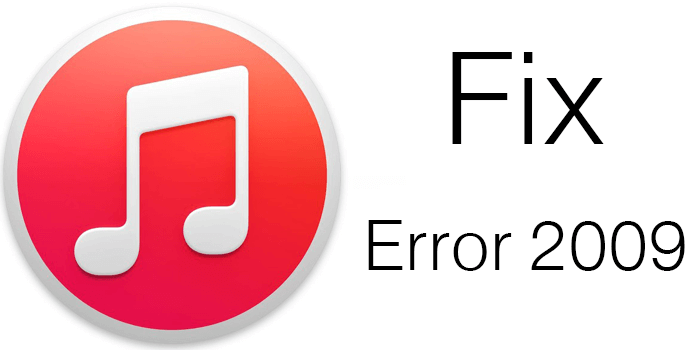 Corregir Itunes Error 2009