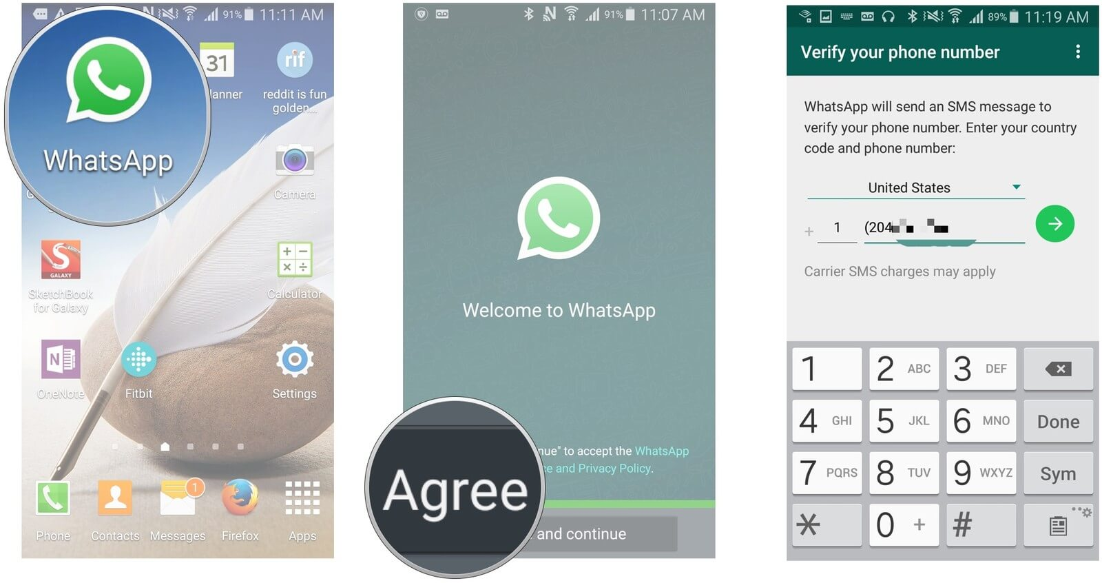 Add Contacts Whatsapp Create Account