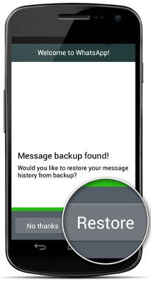 Restore Whatsapp Messages From Recent Backup